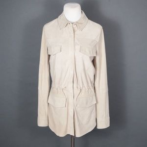 Vince Jackets & Coats - Vince Lamb Leather Suede Safari Jacket